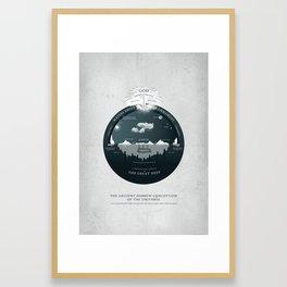 Ancient Hebrew Cosmology Framed Art Print