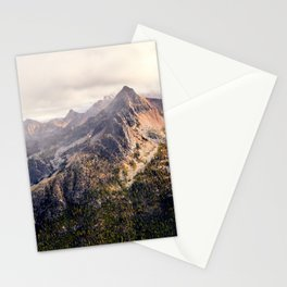 Moody Autumn Mountain in the North Cascades Stationery Cards