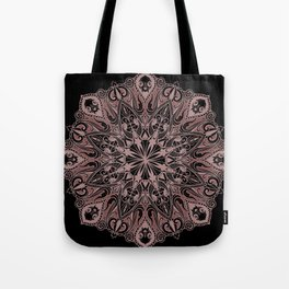 Occult Mandala Inverted Red Tote Bag