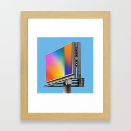 Billboard Framed Art Print