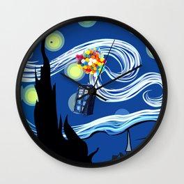 Tardis Balloons Starry Night Wall Clock