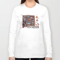 mexico Long Sleeve T-shirts featuring New Mexico by Christiane Engel