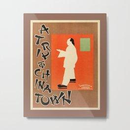 A trip to Chinatown Beggarstaffs Metal Print