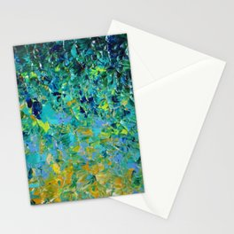 BEAUTY BENEATH THE SURFACE - Stunning Ocean River Water Nature Green Blue Teal Yellow Aqua Abstract Stationery Cards