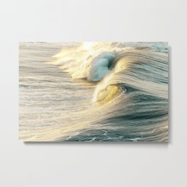 Shimmer Ocean Waves Metal Print