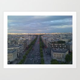 Paris Boulevards Art Print