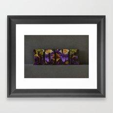 Floral HOME Framed Art Print