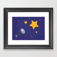 Looking at the stars Framed Art Print