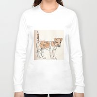jack russell Long Sleeve T-shirts featuring Jack Russell Terrier by Bryan James
