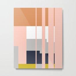 Mesa in Multi Metal Print
