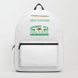 Grumpy Old Pool Slayer Retiree Retired Grandpa Backpack