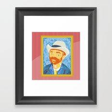 Selfie Van Gogh Framed Art Print