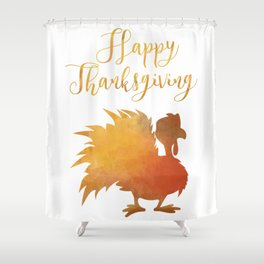 Happy Thanksgiving Turkey Minimal Abstract Shower Curtain