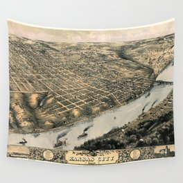 Map Of Kansas City 1869 Wall Tapestry