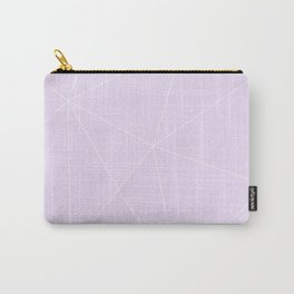 White on Purple Carry-All Pouch
