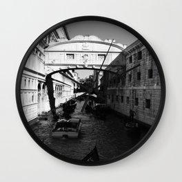 Venice water road Wall Clock