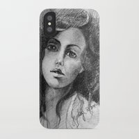 jessica lange iPhone & iPod Cases featuring Jessica by Judy Hung