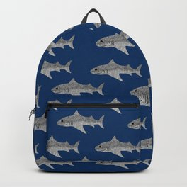 Shark Pattern Backpack