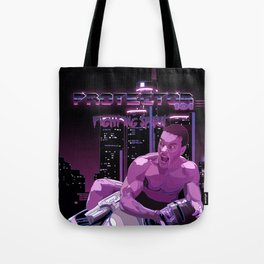 Van Damme vs. Robocop fighting spirit Tote Bag