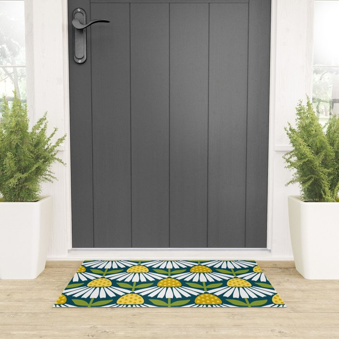 the daisies greet you Welcome Mat
