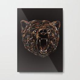 WILD BEAR Metal Print