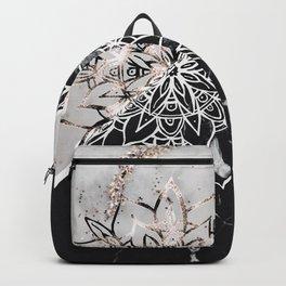 Yin Yang Mandala on Marble #1 #decor #art #society6 Backpack