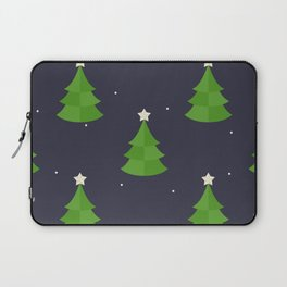 Green Christmas Tree Pattern Laptop Sleeve