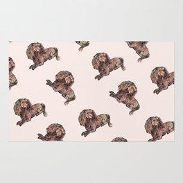 Dog Pattern 2 on Girly Pink Rug