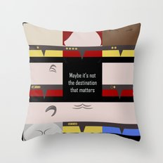 Maybe it's not the Destination that matters - square - Star Trek: Voyager VOY  trektangle minimalist Throw Pillow