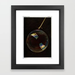 """Light distribution on soap bubble from """"Le monde physique,"""" 1882 Framed Art Print"""