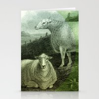 ass Stationery Cards featuring Sheep's Ass by Connie Goldman