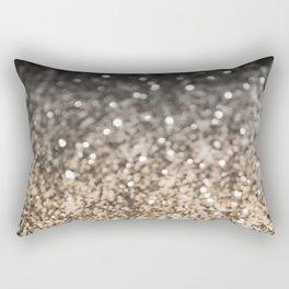 Sparkling GOLD BLACK Lady Glitter #2 #decor #art #society6 Rectangular Pillow