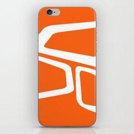 Mid Century In Burnt Orange iPhone Skin
