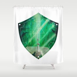 Hylian Shield (Master Sword in the Lost Woods) Shower Curtain