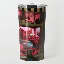 Pink Rhino Salon #UrbanArt #Photography #StreetScene Travel Mug