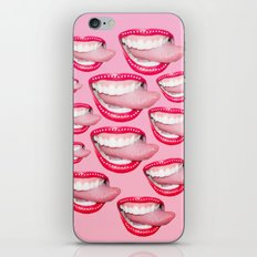 bedazzled tongue iPhone & iPod Skin