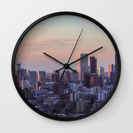 Sunset on the City Wall Clock