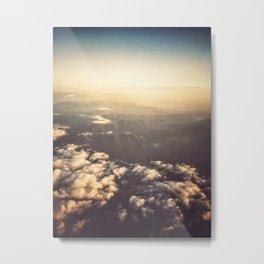 clouds aerial view Metal Print