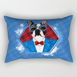 Hipster French Bulldog -Frenchie Rectangular Pillow