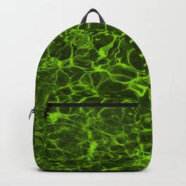 Neon Green Underwater Wavy Rippling Water Backpack