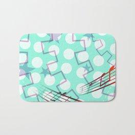 Abstract Polka Dot Bath Mat