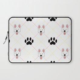 White German Shepherd Paw Print Pattern Laptop Sleeve