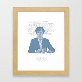 Sherlock Poster Framed Art Print