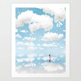 cloud sea Art Print