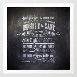 mighty to save Art Print