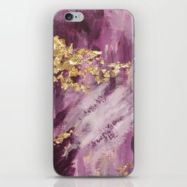 Pink, Purple and Gold Abstract Glam iPhone Skin