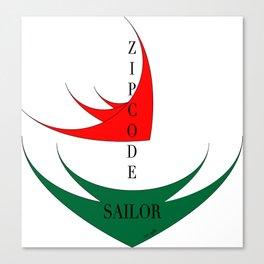ZipcodeSailor Canvas Print