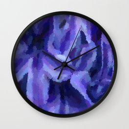 Purple Hibiscus Leaf Tapestry Print #1497 Wall Clock