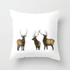Silent Snow Throw Pillow
