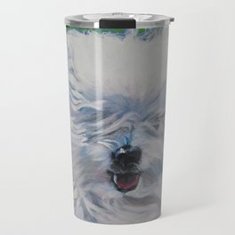 The Coton de Tuléar dog art from an original painting by L.A.Shepard Travel Mug